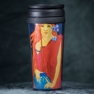 Travel Mug<br /> Art by Fay Timmerman